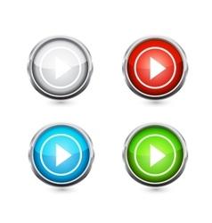Play button set vector image