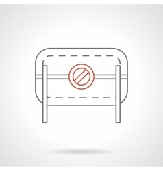 Prohibition road barrier flat line icon vector image