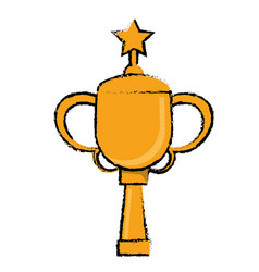 star award cup sport win vector image