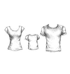 tshirts vector image
