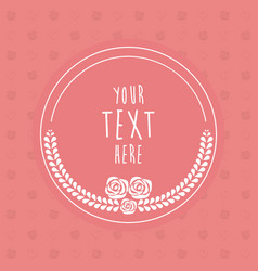 frame decoration flower template card image vector image