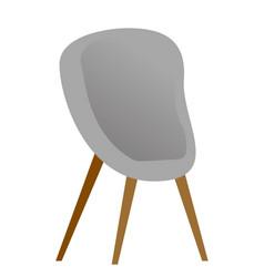grey modern chair cartoon vector image vector image