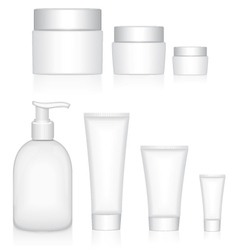 Packaging containers Beauty products vector image vector image
