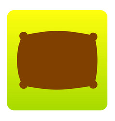 pillow sign brown icon at vector image