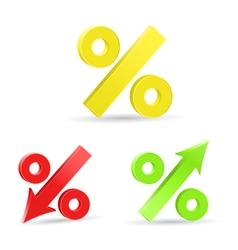Percent colored symbols vector image