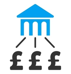 Pound Bank Structure Flat Icon Symbol vector image