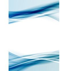 Transparent blue color border folder design vector image vector image