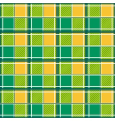 Yellow Green White Chessboard Background vector image