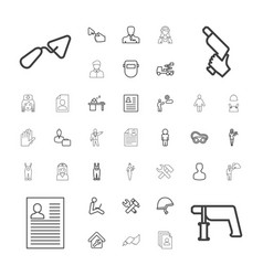 37 worker icons vector