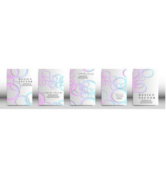abstract cover with circle elements book design vector image