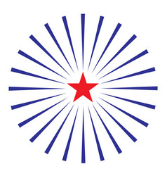 american star with rays symbol icon vector image