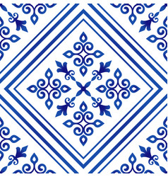 beautiful tile pattern vector image