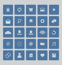 Blue Website Icons Set vector image
