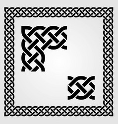 Celtic style frame pattern and corner vector