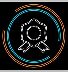 certification seal icon - award badge vector image
