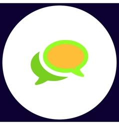 Chat computer symbol vector
