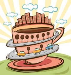 coffee city vector image