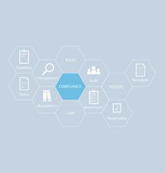 Compliance - icon concept compliance concept vector