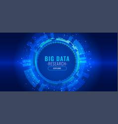 Data visualization futuristic technology banner vector