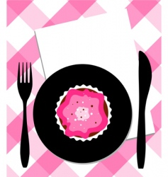 dessert on plate vector image