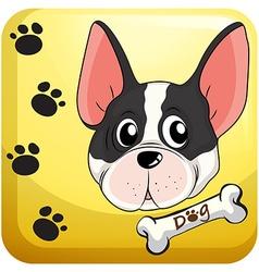 Dog head on badge vector