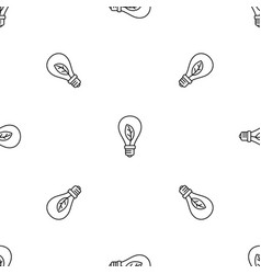 eco save bulb pattern seamless vector image