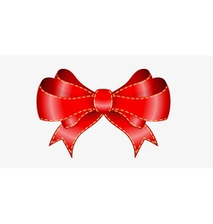 Elegant red bow vector
