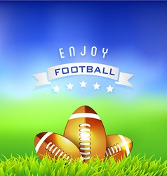 Enjoy Football American Time Background vector