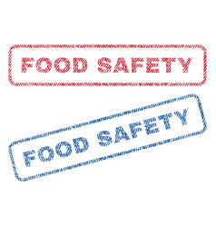 Food safety textile stamps vector