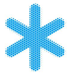 Halftone dot snowflake icon vector