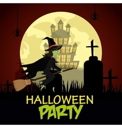 Happy halloween party festival vector