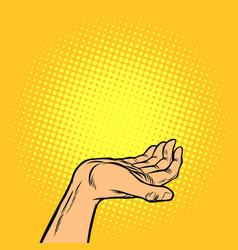 human hand presentation gesture vector image