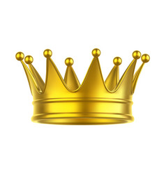 icon queen or king princess or prince crown vector image