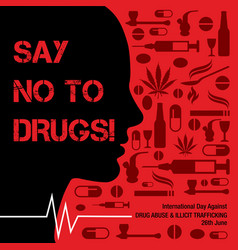 International day against drug abuse blackground vector