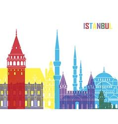 Istanbul skyline pop vector
