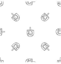 Jewish dreidel pattern seamless vector