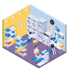 laundry washing department composition vector image