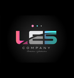 Les l e s three letter logo icon design vector