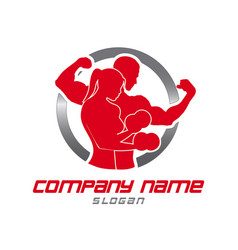 logo gym vector image