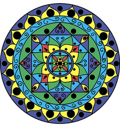 Mandala Multicolored vector image