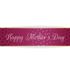 Mothers Day Text on greeting purple Banner vector