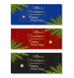 multicolored christmassy backgrounds set vector image