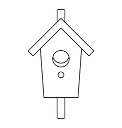 Nesting box icon outline style vector image