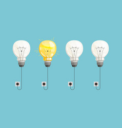 new idea background lamp bulbs light vector image