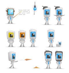 office man characters set vetor vector image