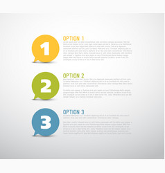 one two three - bubbles with numbers vector image