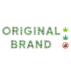Original brand label collage of marijuana vector