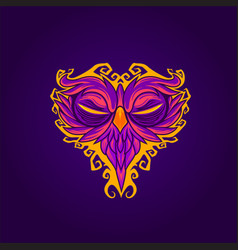 owl mask abstract vector image