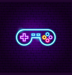 play game neon sign vector image