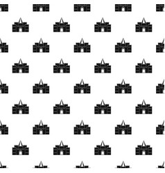Residential mansion with towers pattern vector